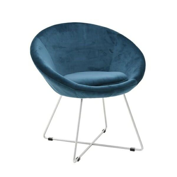 Овално кадифено кресло