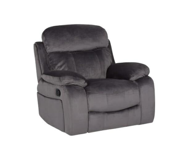 Сив фотьойл с релакс механизъм Селена - сив