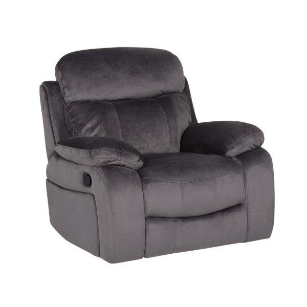 Сив фотьойл с релакс механизъм Селена