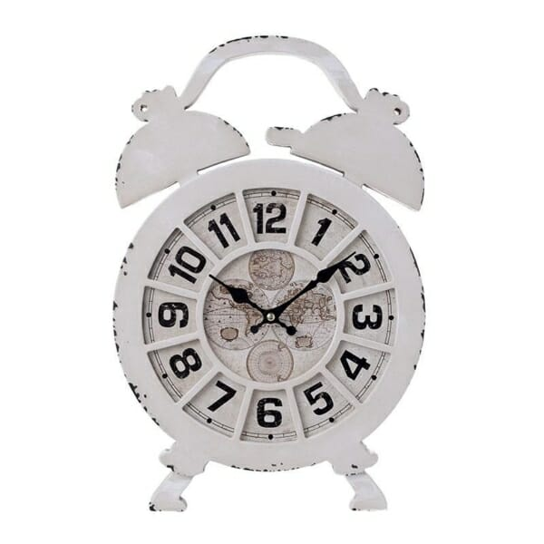 Стенен часовник в състарено бяло