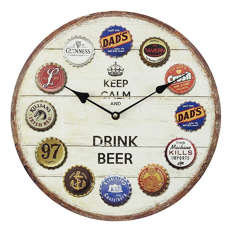 Стенен часовник за любителите на бира