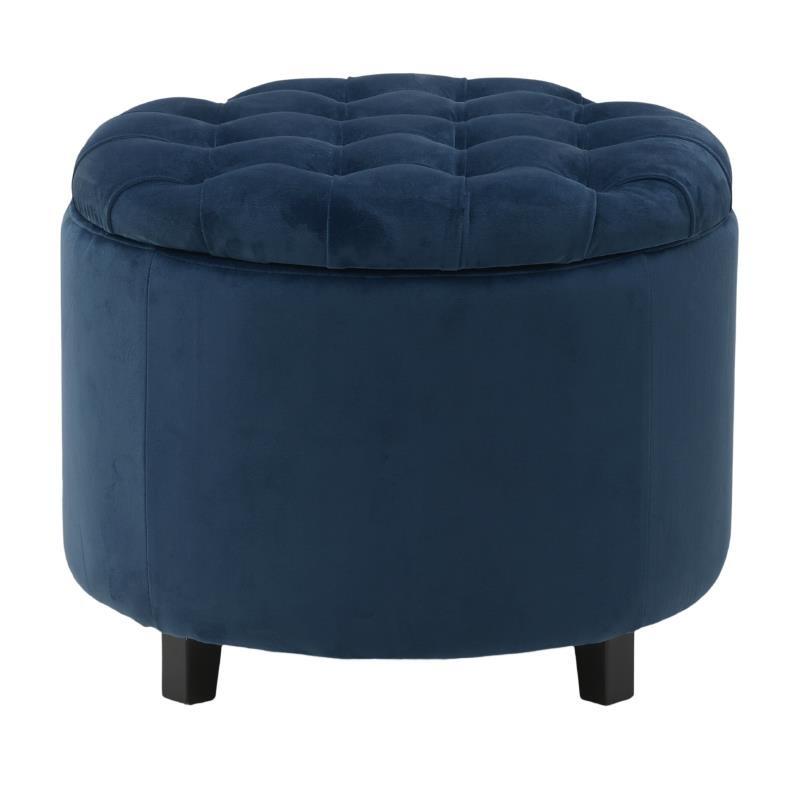 Табуретка с място за съхранение - синя
