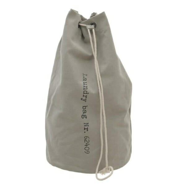 Текстилен кош за пране като чувал - светлосив