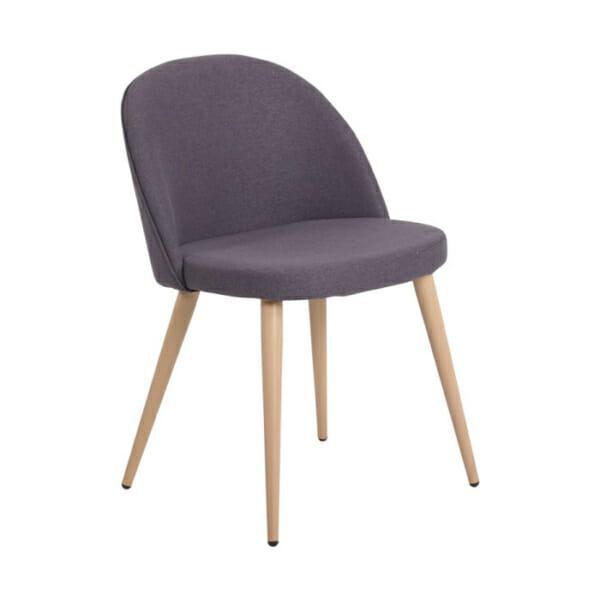 Трапезен стол с метални крака имитиращи дърво Scandi 010-цвят графит