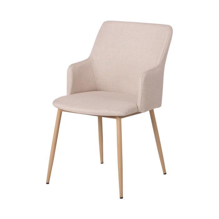 Кафяв трапезен стол с метални крака Scandi 009 - телесен цвят