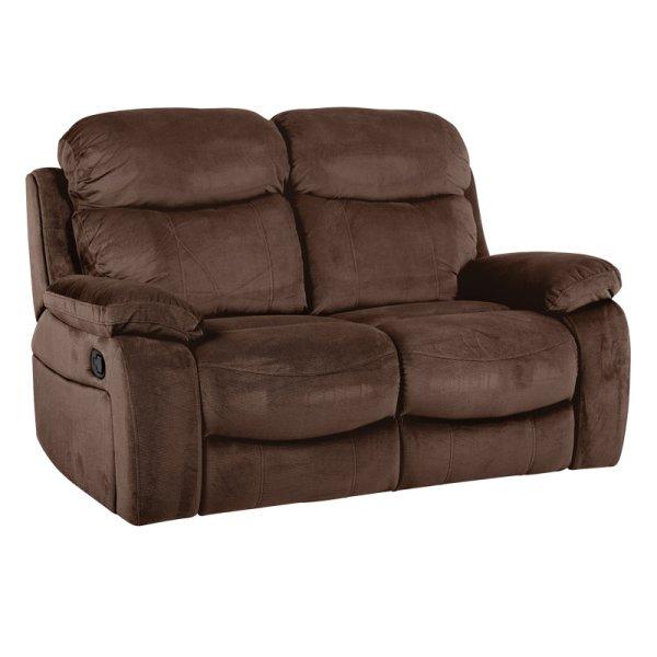Тъмно кафяв двоен диван с разпънати релакс механизми Селена