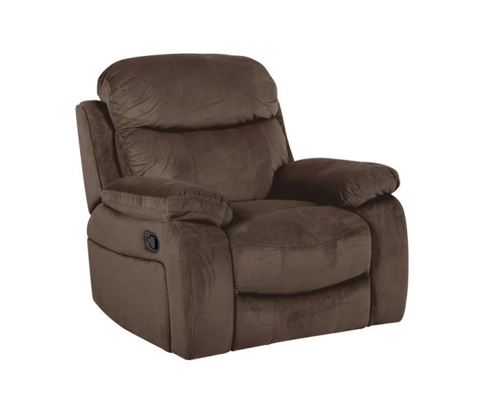 Тъмно кафяв фотьойл с релакс механизъм Селена
