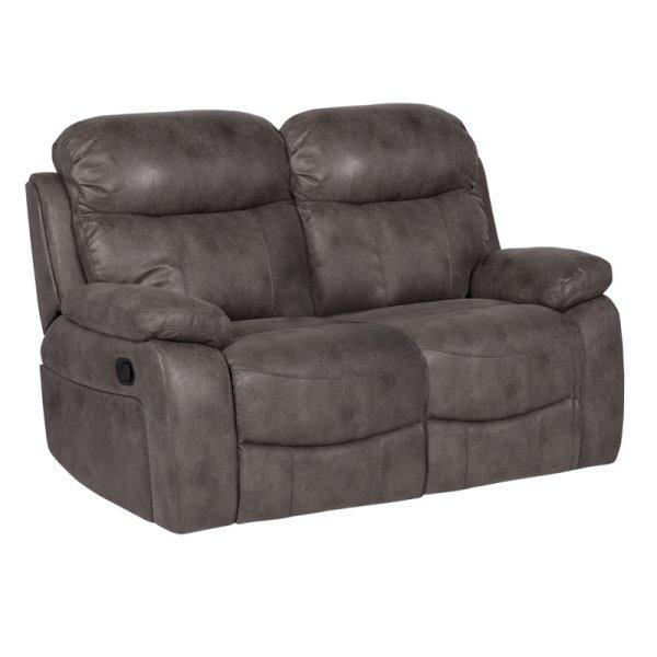 Тъмно сив двоен диван с релакс механизми Селена