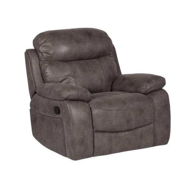 Тъмно сив фотьойл с релакс механизъм Селена