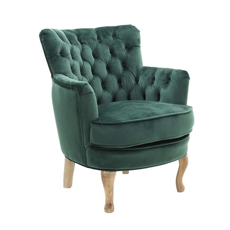 Удобно кадифено кресло в зелено