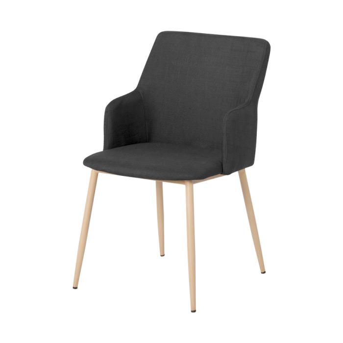 Черен трапезен стол с метални крака Scandi 009