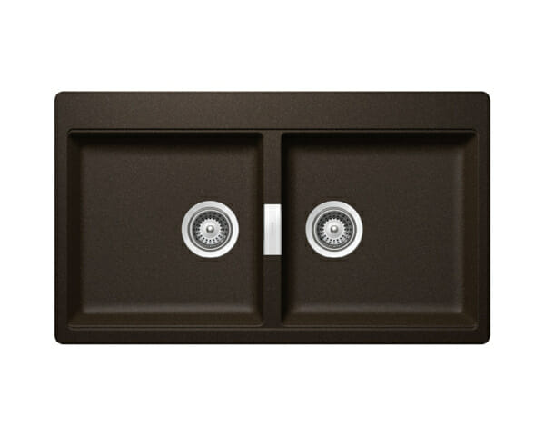 Двойна мивка за кухня SCHOCK Horizont N200-цвят Bronze