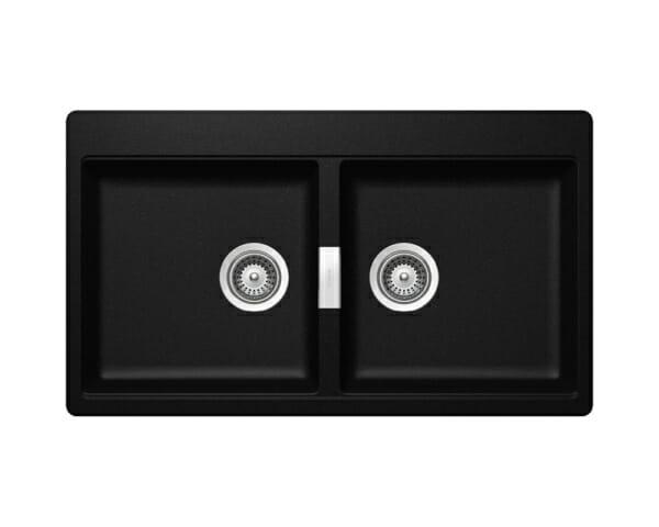 Двойна мивка за кухня SCHOCK Horizont N200-цвят Magma