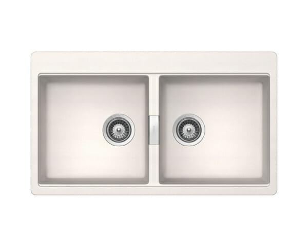 Двойна мивка за кухня SCHOCK Horizont N200-цвят Polaris
