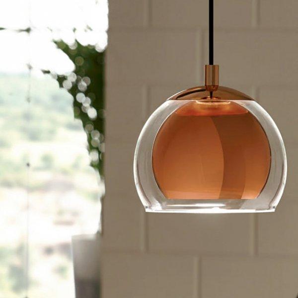 Единичен Пендел серия Rocamar в интериор, цвят мед