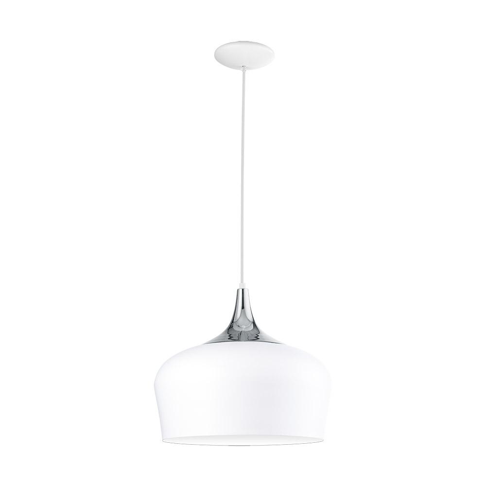 Модерен пендел серия Obregon, цвят бял+хром