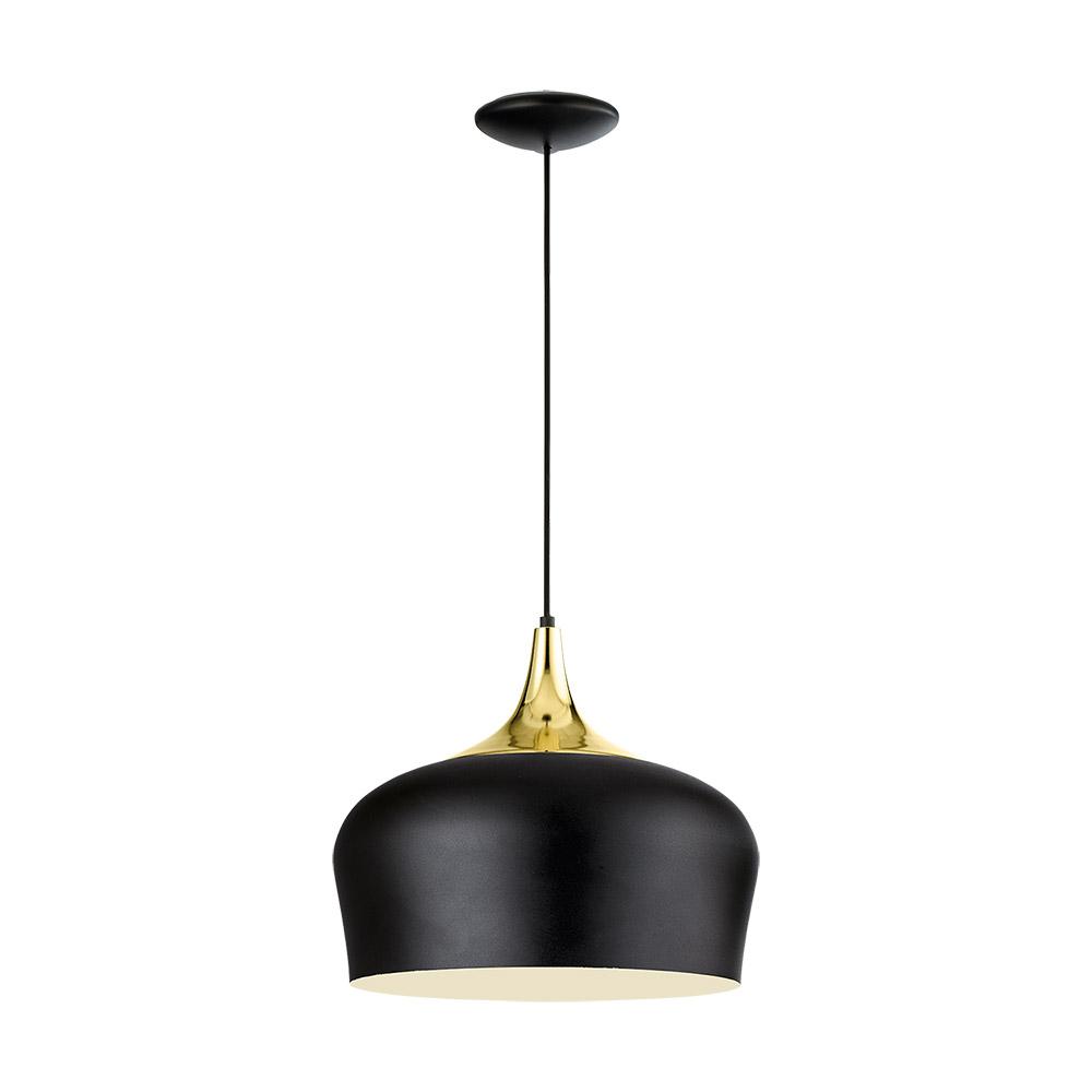 Модерен пендел серия Obregon, цвят черен+крем+месинг