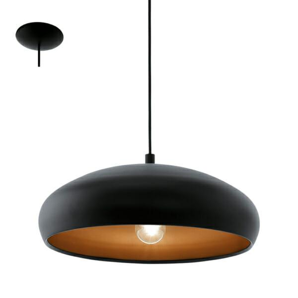 Модерен черен пендел серия Mogano 1