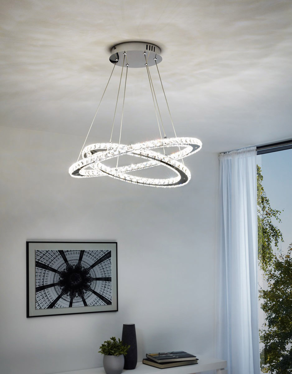 Модерен LED полилей с кристали серия Varrazo-Интериор