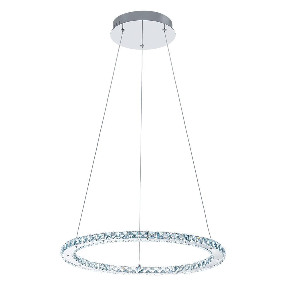 Модерен LED полилей с кристали серия Varrazo - кръг