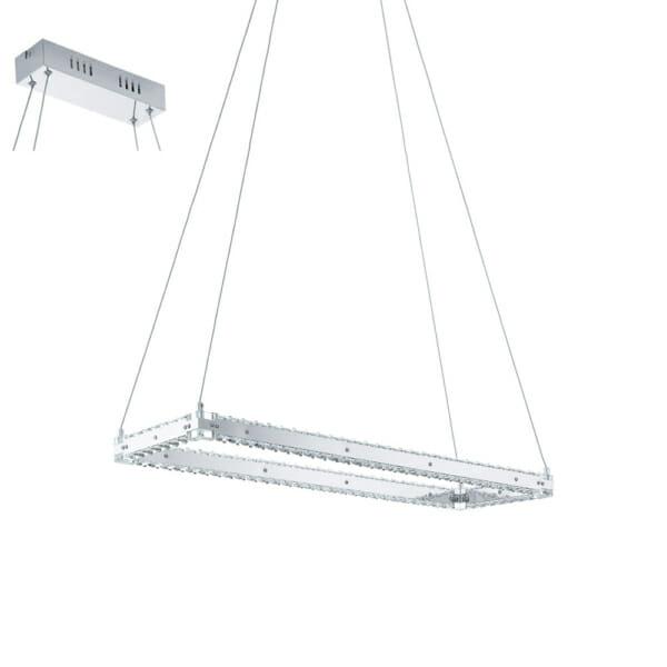 Модерен LED полилей с кристали серия Varrazo, правоъгълен