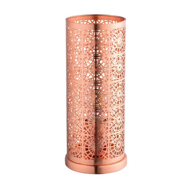 Настолна лампа във формата на цилиндър серия Bocal - цвят мед