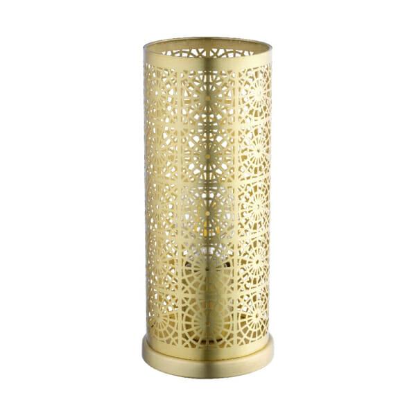 Настолна лампа във формата на цилиндър серия Bocal - цвят месинг