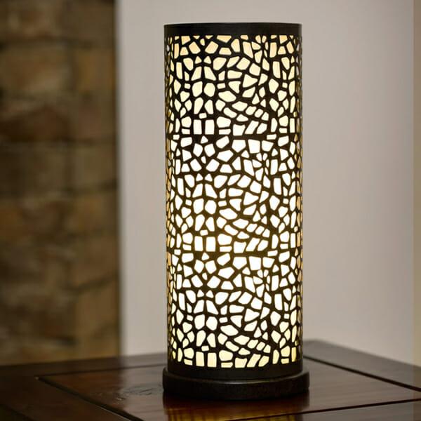 Настолна лампа от метал и стъкло серия Almera, в интериор