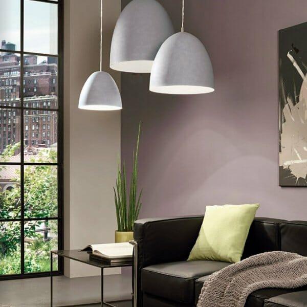 Пендел с повърхност имитираща бетон серия Sarabia-интериорна композиция