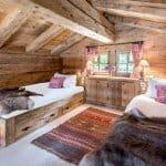 Таванска спалня в хижа