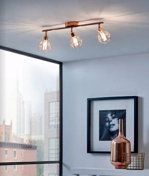 Спот осветление за таван с геометричен мотив серия Zapata-интериор