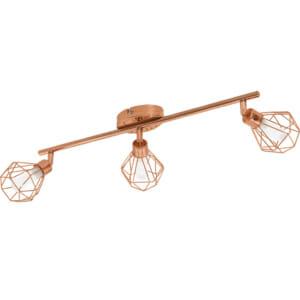 Спот осветление за таван с геометричен мотив серия Zapata, с 3 спот тела