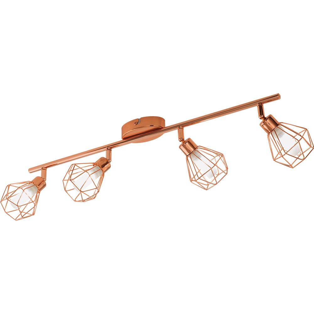Спот осветление за таван с геометричен мотив серия Zapata, с 4 спот тела
