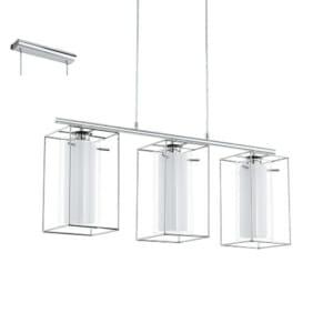 Стилен бял пендел за таван серия Loncino 1, с 3 осветителни тела