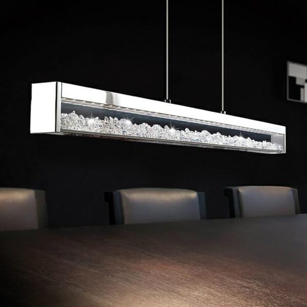 Стилен LED полилей с кристали серия Cardito-интериор