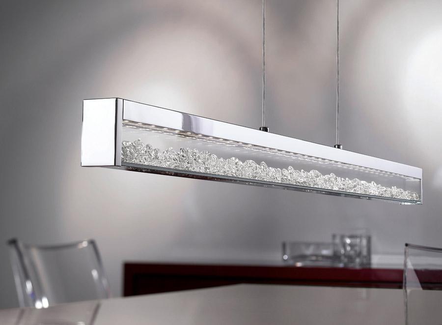 Стилен LED полилей с кристали серия Cardito-снимка в интериор