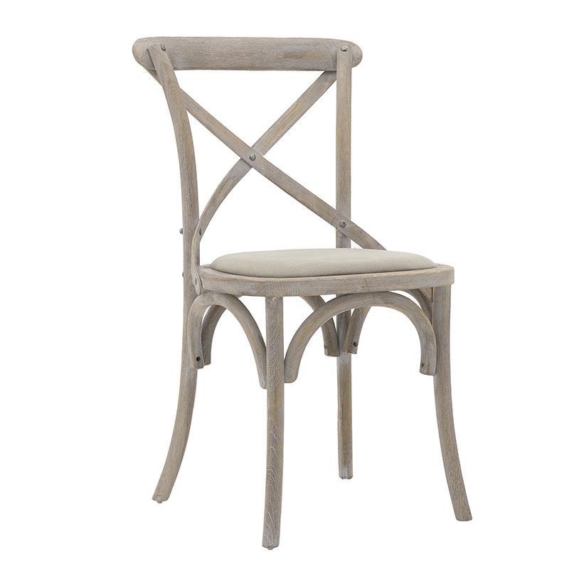 Трапезен стол бистро в бежово