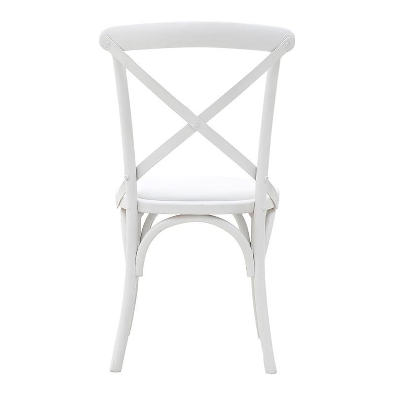 Трапезен стол бистро в бяло - отзад