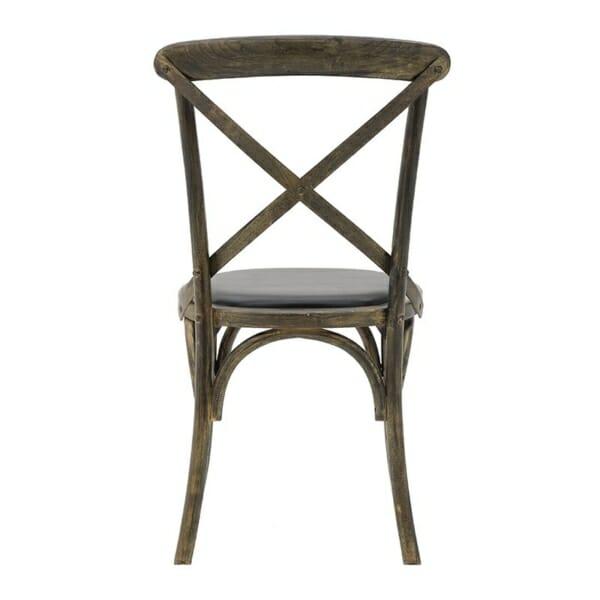 Трапезен стол бистро в черно - отзад