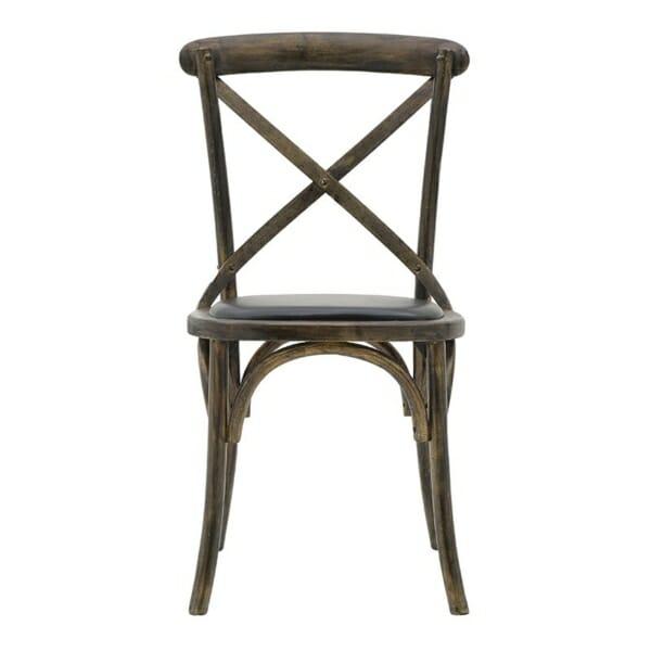 Трапезен стол бистро в черно - отпред