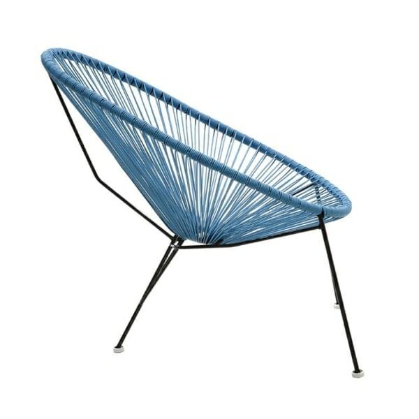 Атрактивен стол с оригинален дизайн в синьо - отстрани