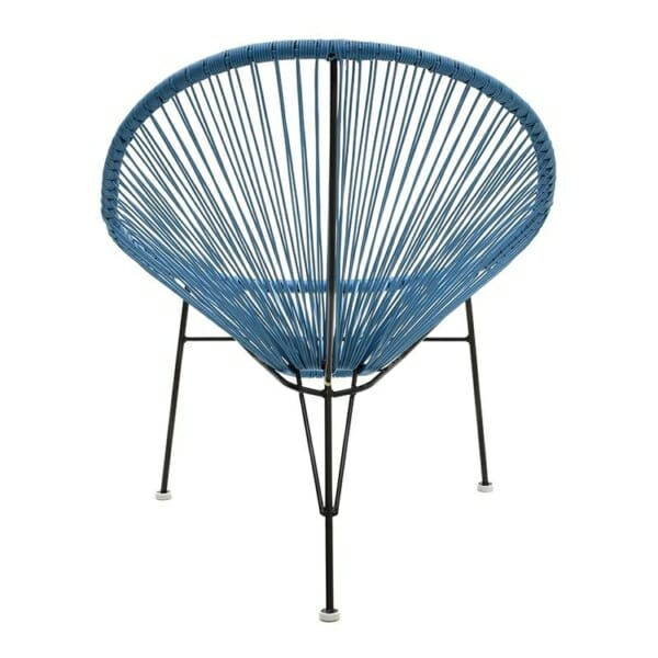 Атрактивен стол с оригинален дизайн в синьо - отзад