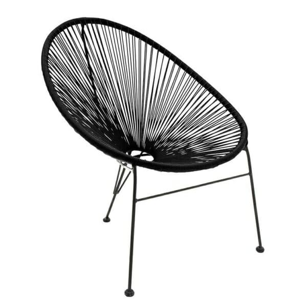 Атрактивен стол с оригинален дизайн в черно