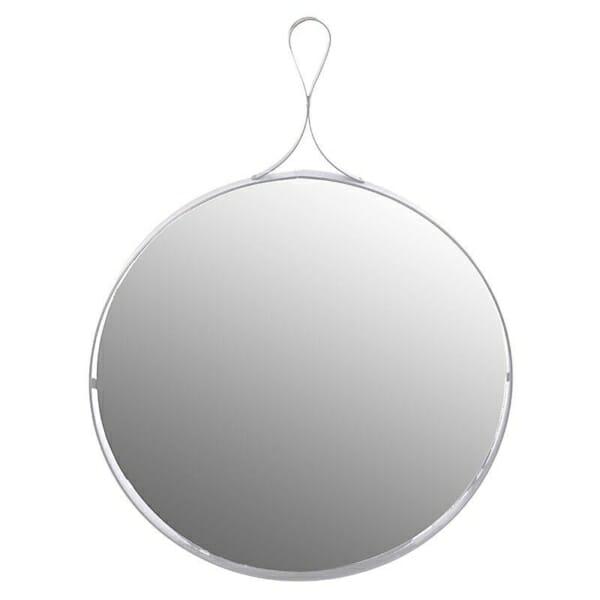 Бяло огледало с метален обков