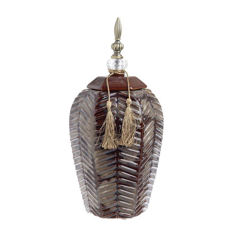 Декоративен керамичен буркан - среден