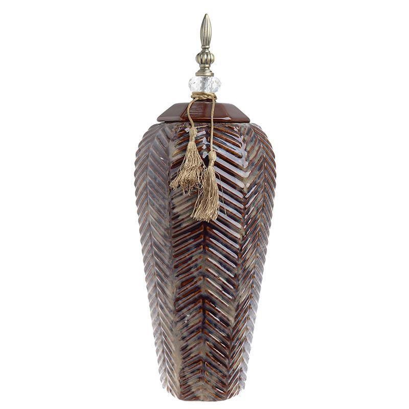 Декоративен керамичен буркан - голям