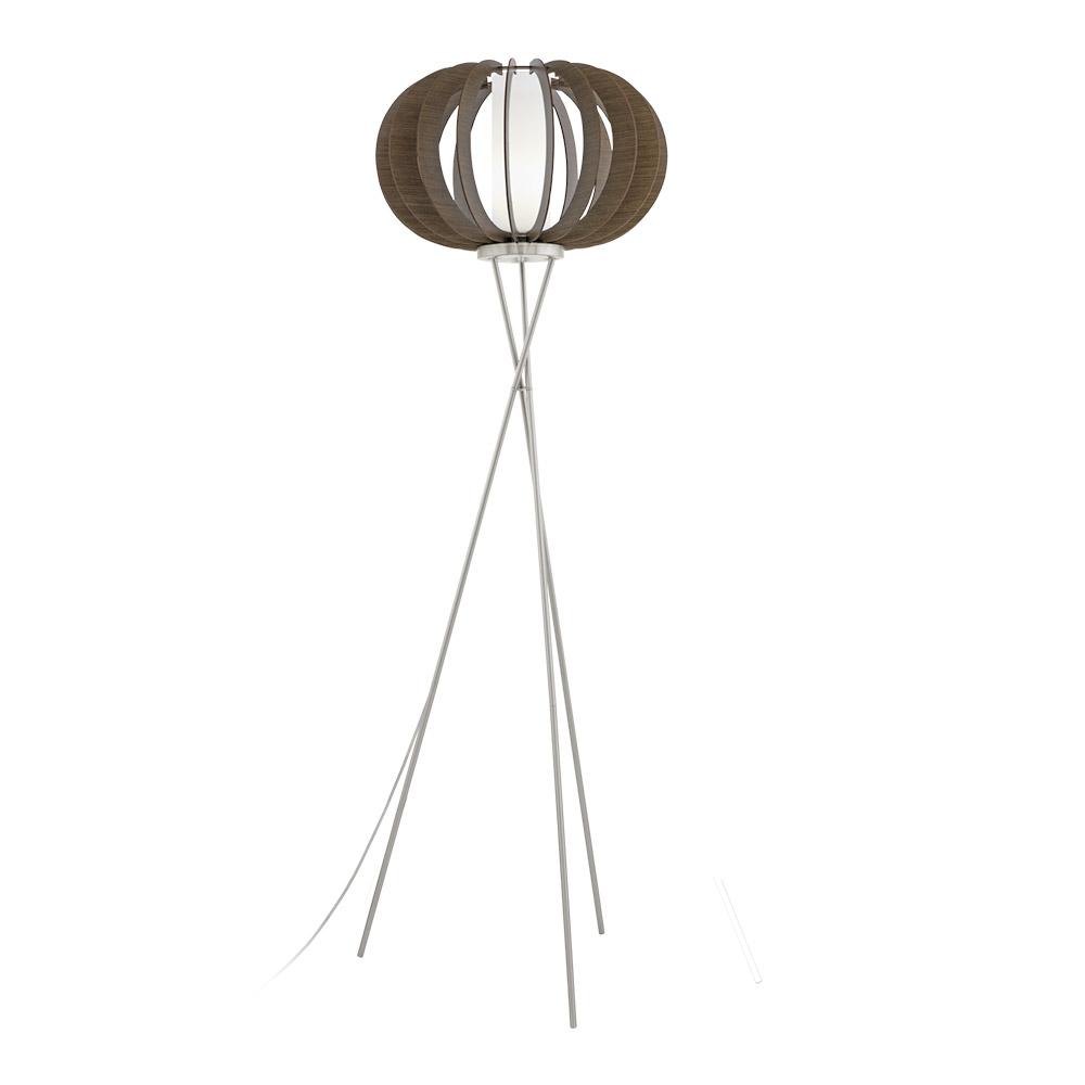 Декоративен лампион с ламели от дърво в кафяво серия Stellato