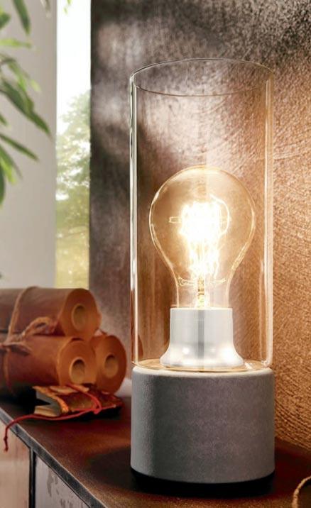 Декоративна настолна лампа в индустриален стил серия Torvisco 1