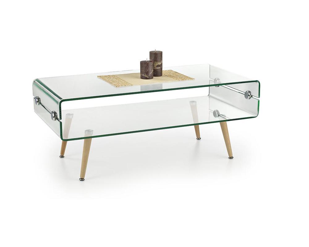 Декоративна стъклена маса в модерен стил