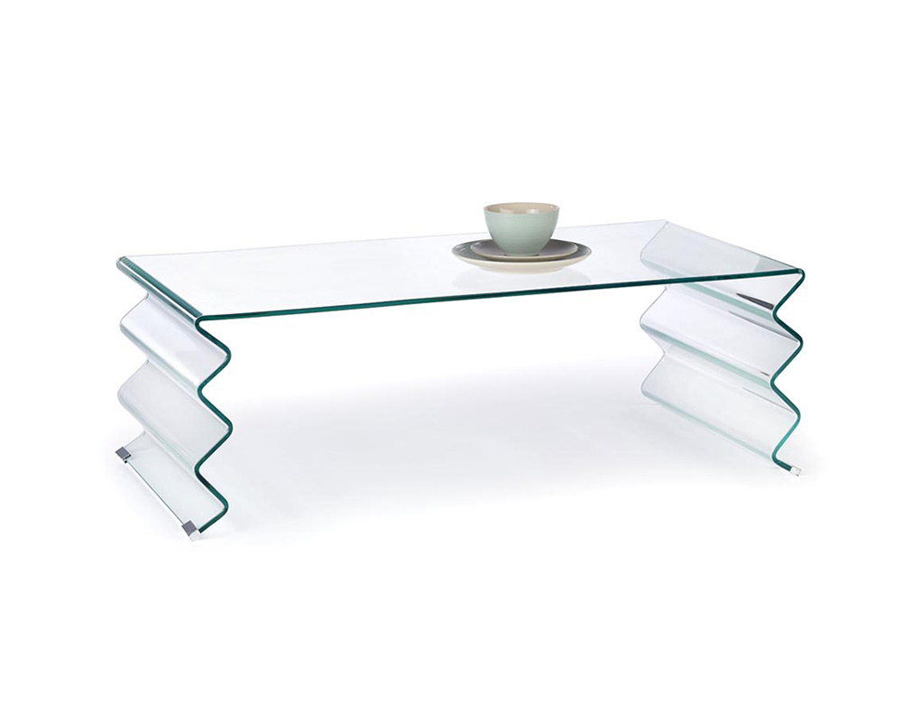 Изцяло стъклена декоративна маса за хол